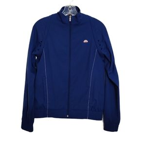 Ellesse Blue Zip Up Jacket Long Sleeve Logo Size S